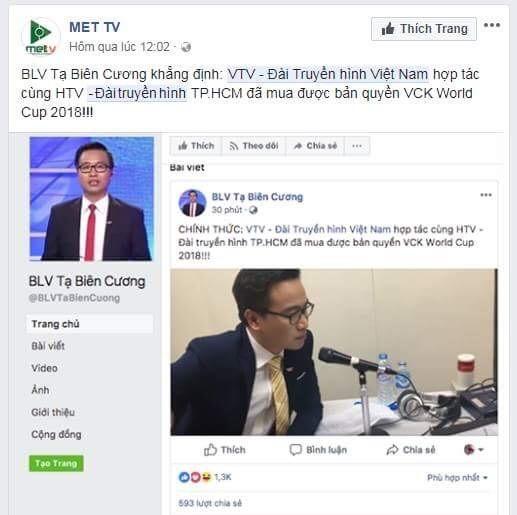 Tạ Biên Cương,Lại Văn Sâm,VTV,World Cup 2018