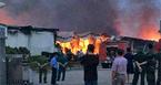 Phú Thọ: Cháy dữ dội ở khu công nghiệp Thụy Vân từ đêm đến sáng
