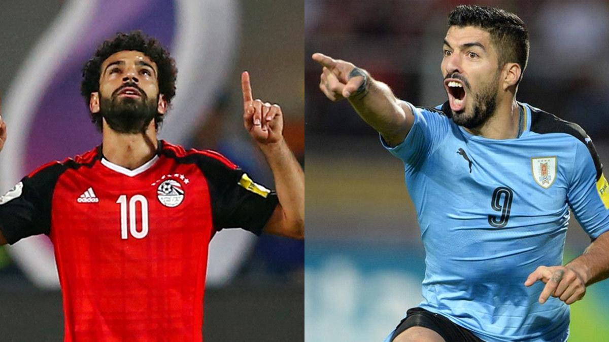 Uruguay,Ai Cập,Luis Suarez,Salah,Nga,Saudi Arabia,bảng A