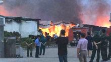 Phú Thọ: Cháy dữ dội ở khu công nghiệp Thụy Vân
