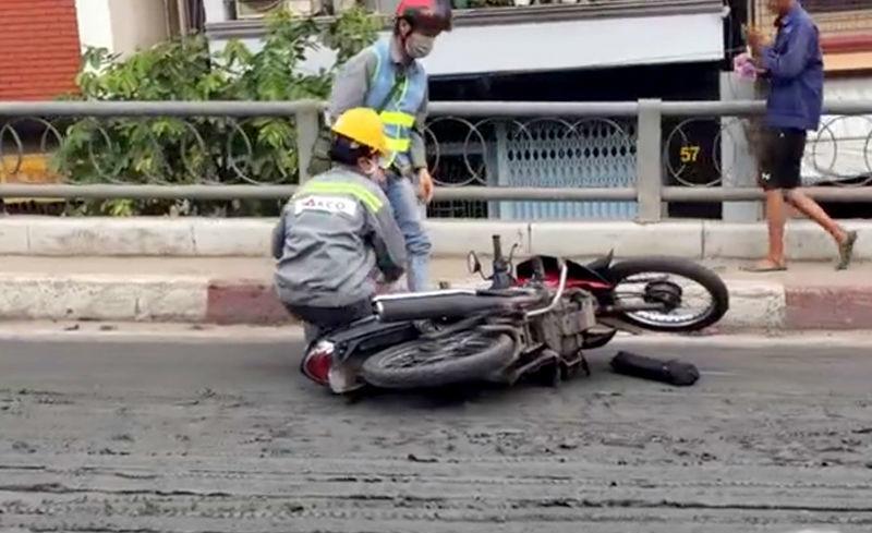 cầu kênh tẻ,Sài Gòn,kẹt xe,xe ben gây tai nạn