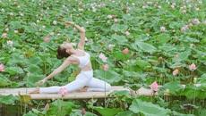 Bộ ảnh 'Yoga và sen' của người đẹp U40 hút dân mạng