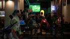 Người Hà Nội đội mưa xem khai mạc World Cup