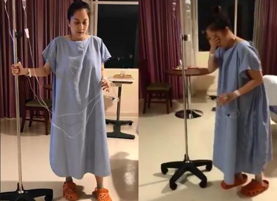 Khánh Thi bật khóc đau đớn sau khi sinh con lần 2 ở tuổi 37