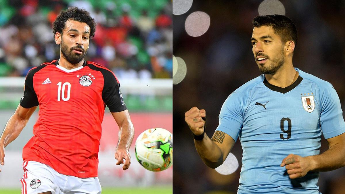 Ai Cập vs Uruguay: Salah tấn công Luis Suarez