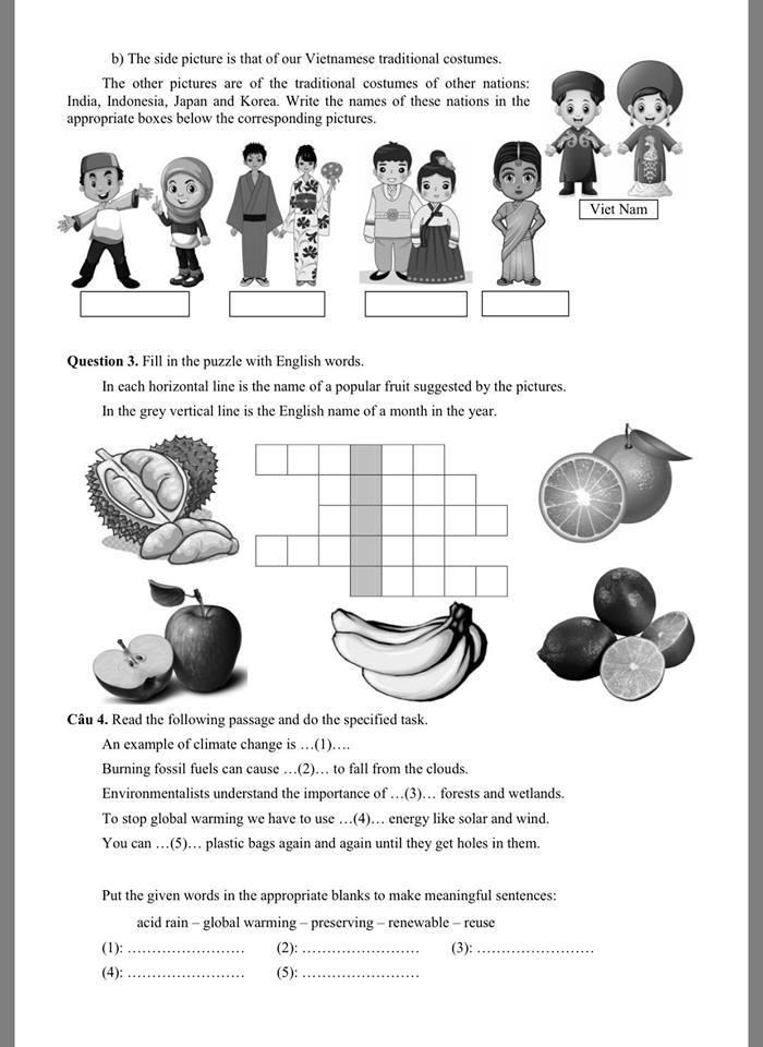 Công bố đề và đáp án thi lớp 6 trường Trần Đại Nghĩa