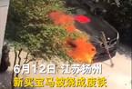Video BMW gần 2 tỷ bất ngờ cháy rụi sau lễ cúng xe mới