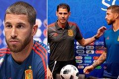 """Ramos đùng đùng bỏ họp báo, tuyển Tây Ban Nha """"như có tang"""""""