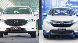 Honda CR-V và Mazda CX-5 ganh đua quyết liệt