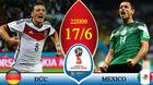 Xem trực tiếp trận Đức vs Mexico ở đâu?