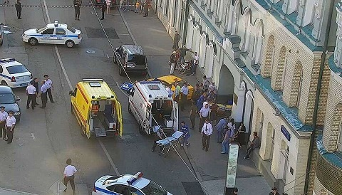 Taxi lao vào người hâm mộ bóng đá gần Quảng trường Đỏ