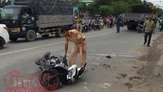Va chạm với xe tải, nam thanh niên đi xe máy tử vong