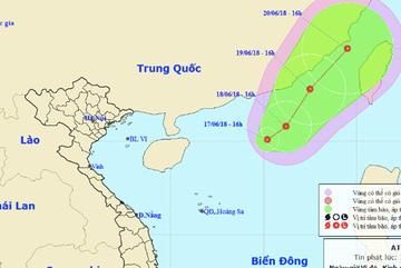 Biển Đông xuất hiện áp thấp nhiệt đới