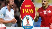 Xem trực tiếp trận Anh vs Tunisia ở kênh nào?