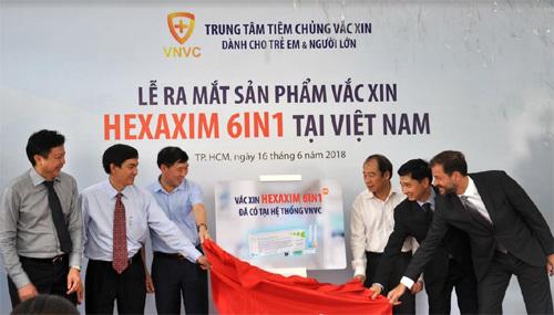 Hệ thống tiêm chủng VNVC ra mắt vắc xin 6in1 mới