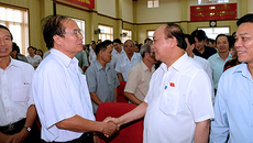 Hình ảnh Thủ tướng tiếp xúc cử tri huyện Tiên Lãng, Hải Phòng