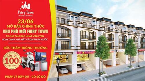 Mở bán khu phố mới Fairy Town Vĩnh Phúc