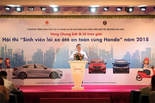 Sôi động chung kết 'SV lái xe ôtô an toàn cùng Honda'