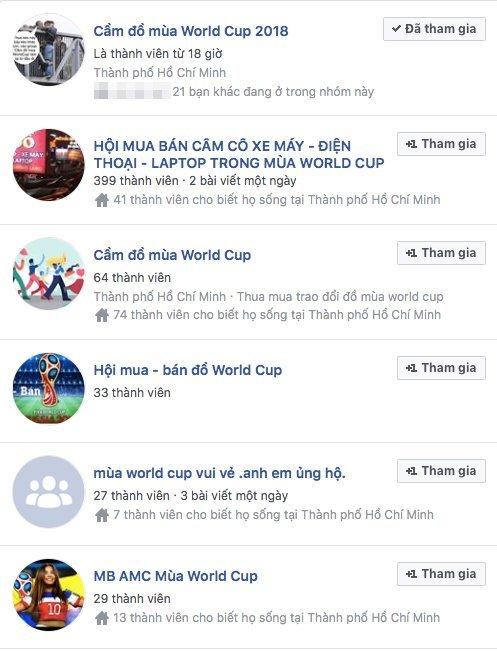 Rộ mua bán đồ cũ mùa World Cup