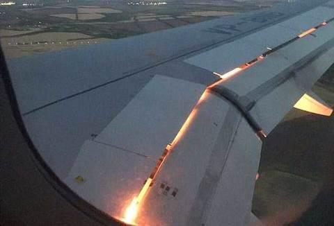 Máy bay chở đội tuyển bóng đá Ảrập Xêút bốc cháy