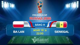 Link xem trực tiếp Ba Lan vs Senegal, 22h ngày 19/6