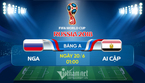 Link xem trực tiếp Nga vs Ai Cập, 01h ngày 20/6
