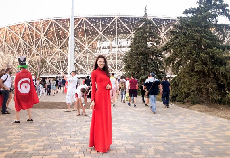 Người đẹp ảnh đến Nga cổ vũ World Cup 2018