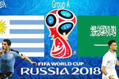 Link xem trực tiếp Uruguay vs Saudi Arabia, 22h ngày 20/6