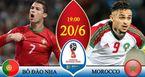 Link xem trực tiếp Bồ Đào Nha vs Maroc, 19h ngày 20/6