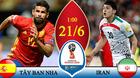 Link xem trực tiếp Tây Ban Nha vs Iran, 01h ngày 21/6