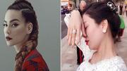 """Hà Hồ bị nghi viết Facebook """"đá xéo"""" khi Lệ Quyên đăng ảnh giơ tay khoe nhẫn kim cương"""