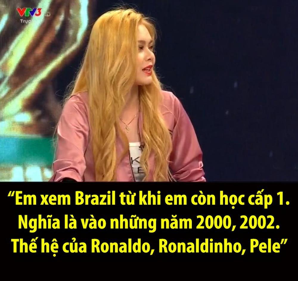 Nhiều bất ngờ về hotgirl bị 'ném đá' trên VTV sau bình luận về tuyển Brazil