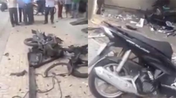 Xe máy bất ngờ phát nổ tại công an phường, 1 nữ công an bị thương 1
