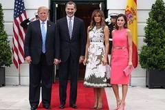 Đệ nhất phu nhân Mỹ 'đọ sắc' với Hoàng hậu Tây Ban Nha