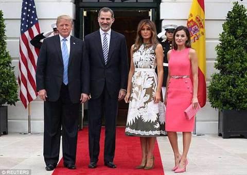 Đệ nhất phu nhân Mỹ đọ sắc với Hoàng hậu Tây Ban Nha