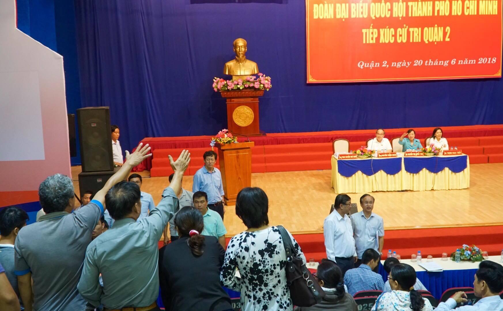 Ông Nguyễn Thiện Nhân thực hiện lời hứa đối thoại với người dân Thủ Thiêm