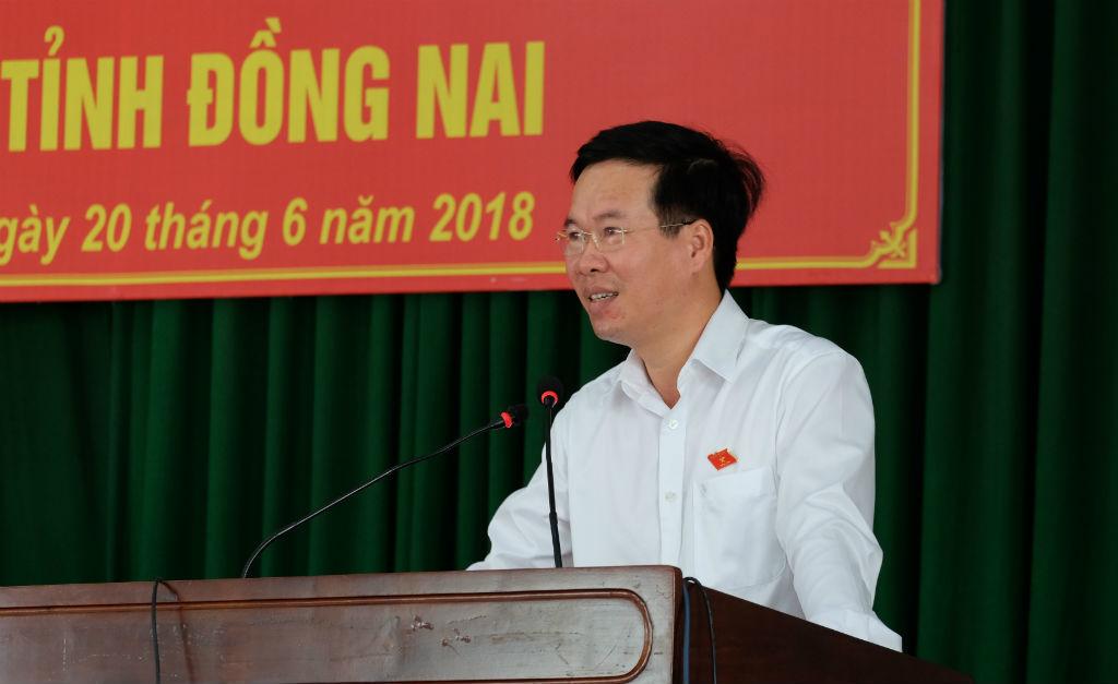 Ông Võ Văn Thưởng nói về dự án luật đặc khu, luật an ninh mạng