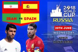 Đội hình ra sân trận Iran vs Tây Ban Nha, 1h ngày 21/6