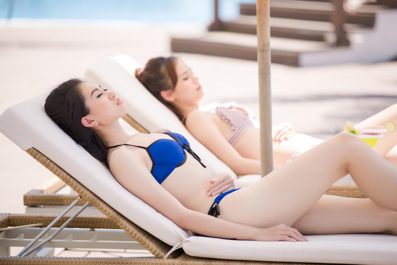 Thí sinh Hoa hậu Việt Nam khoe vẻ đẹp nóng bỏng