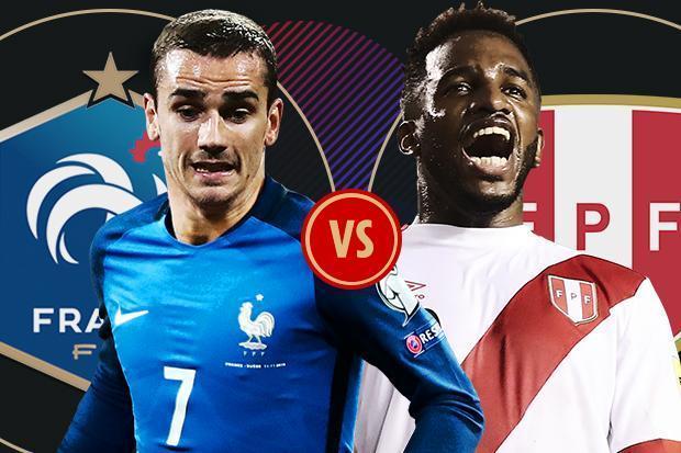 Pháp vs Peru, bảng C World Cup 2018