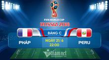 Link xem trực tiếp Pháp vs Peru, 22h ngày 21/6