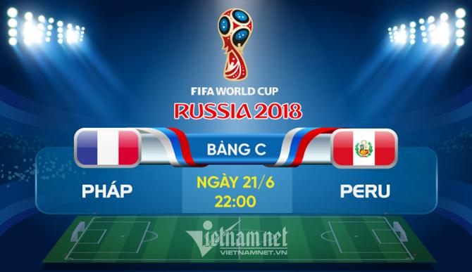 Trực tiếp Pháp vs Peru