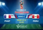 Trực tiếp Pháp vs Peru, 22h ngày 21/6