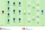 Đội hình ra sân trận Pháp vs Peru, 22h ngày 21/6