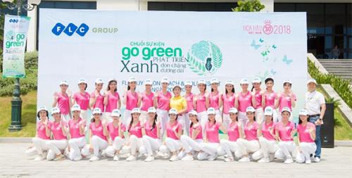 Thí sinh Hoa hậu Việt Nam hào hứng tham gia 'Go Green'