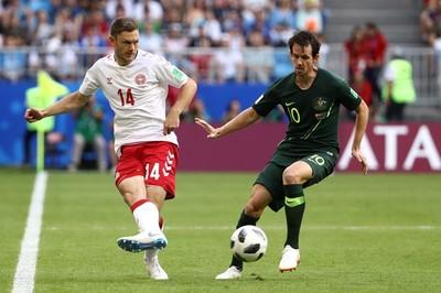 Video bàn thắng Đan Mạch 1-1 Úc
