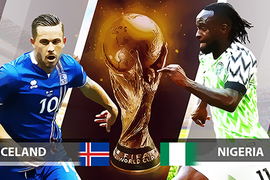 Nigeria 0-0 Iceland: Đại bàng xanh đấu chiến binh Viking (H1)