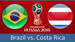 Link xem trực tiếp Brazil vs Costa Rica, 19h ngày 22/6