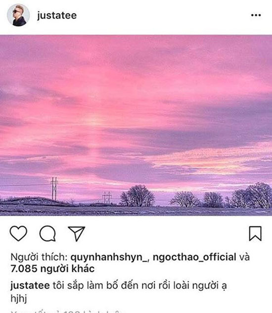 JustaTee thông báo sắp lên chức bố