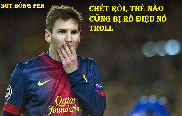 Ảnh chế Messi ngập tràn Facebook sau khi Argentina thua Croatia tan tác